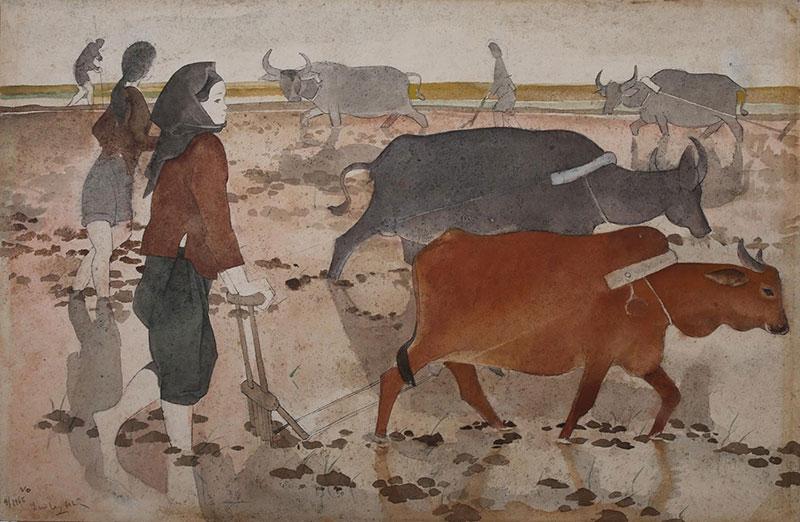 peinture vietnamienne Luu Cong Nhan