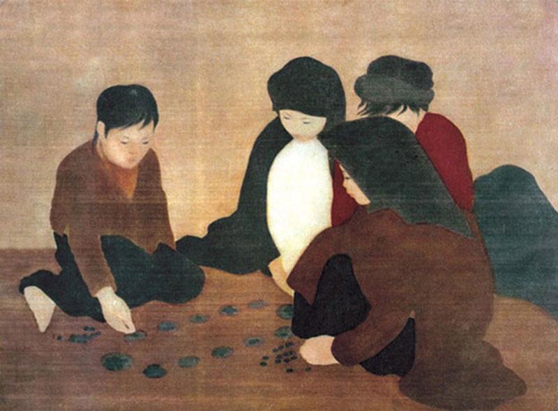peinture sur soie vietnam